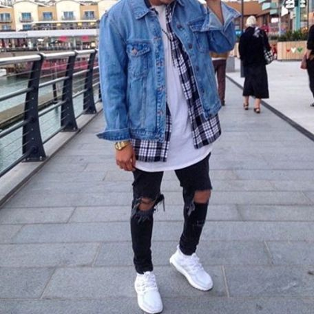streetwear jacket layered